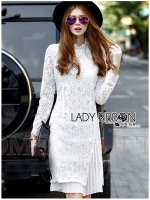 Lady Ribbon Dress เดรสผ้าลูกไม้สุดหรู