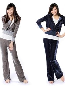 ชุดเซตเสื้อแจ็คเกตและกางเกงขายาว Tracksuit Zipper