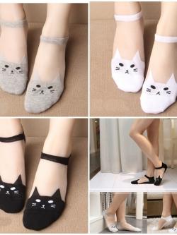 ถุงเท้า Cat Shallow