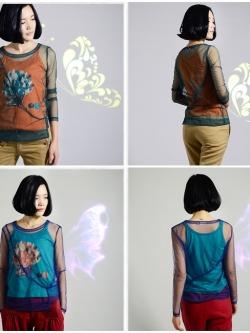 [Set 2 ชิ้น] เสื้อเบลาซ์ Fan Art Wind Sling
