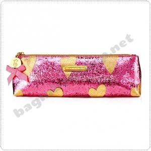 &#x2764️ Victoria's Secret Sparkly Heart Long Makeup Bags