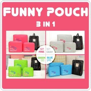 Funny Pouch เซ็ทจัดระเบียบกระเป๋าเดินทาง 3 ชิ้น
