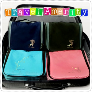 Travel Amenity Organizer Bag กระเป๋าใส่ของใช้พกพาแขวนสะดวก