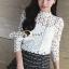 Seoul Secret Blouse เสื้อลูกไม้แขนยาว thumbnail 7