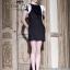 VALENTINO Queen ฺBlack Dress เดรสดำ แต่งแขนกุหลาบขาว thumbnail 8