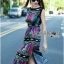 Lady Ribbon Colorful Graphic Printed Maxi Dress thumbnail 6