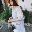 Lady Ribbon Lace-Sleeve Mini Dress with Ribbon thumbnail 4