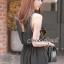Seoul Secret จั๊มสูทผ้าชีฟองขาสั้น สีดำ แต่งเลื่อมที่แขน thumbnail 4
