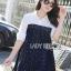 Lady Ribbon Embellished Cotton and Denim Shirt Dress thumbnail 2