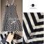 Lady Ribbon B&W Stripe Maxi Korea แม็กซี่ลายขวาง สุด Chic thumbnail 11