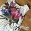 Lady Ribbon Mix Orchid Printed Chiffon Maxi Dress thumbnail 8