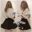 Lady Ribbon Owl Fur Sweater and Flower Embellished Skirt Set thumbnail 4