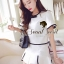 Seoul Secret ชุดเซ็ท เสื้อและกระโปรงกางเกง โทนสีขาวดำ thumbnail 2