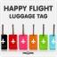 HAPPY FLIGHT Square Luggage Tag ป้ายห้อยกระเป๋าเดินทาง thumbnail 12