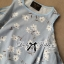 Lady Ribbon Cut-Out Floral Print Baby Blue Flared Dress thumbnail 8