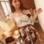 Seoul Secret ชุดเซ็ทเสื้อผ้าลูกไม้ กระโปรงผ้าแก้วทอลายดอก thumbnail 1