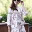 Seoul Secret Sakura Outer Set ชุดเสื้อคลุม กางเกงลายดอกซากุระ แถมเข็มกลัด thumbnail 4