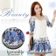 IceVanilla Jacquard Sleeve Dress thumbnail 4