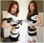 Lady Ribbon Minimal Chic Set ชุดเซ็ทเสื้อครอปและกระโปรง สีขาวดำ thumbnail 1