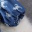 Icevanilla Unicorn Chic Denim Stitch Pearl Dress thumbnail 10
