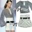 Lady Ribbon ชุดเซ็ตเสื้อลายทางกับกางเกงขาสั้นเอวสูง thumbnail 6