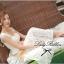Lady Ribbon Sweet Lace Maxi Dress เดรสยาวผ้าลูกไม้สีครีม thumbnail 4