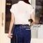 Seoul Secret จั๊มสูทกางเกงขายาว เอวผูกโบว์ thumbnail 6