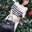 Seoul Secret Cool Stripy Top Shoulder Oblique Lace thumbnail 2