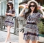 Lady Ribbon Bohemian Tribal Shirt Dress thumbnail 2