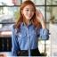 Sweet Blue Shirt เสื้อตัวยาว สีฟ้า ตัดต่อผ้าลูกไม้ช่วงหลังและกระโปรง thumbnail 2