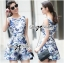 Lady Ribbon Floral Painting Printed Playsuit thumbnail 4