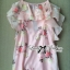 Lady Ribbon Sweet Floral Printed Silk Cotton Ruffle Dress thumbnail 10
