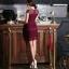 Odee Cutie เดรสลูกไม้ลุคหรูหราโทนสีไวน์แดง thumbnail 8