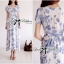 Lady Ribbon Floral Print Maxi Wrap Dress thumbnail 3