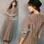 Lady Ribbon Stripe Maxi Dress แม็กซี่ลายทาง โทนสีน้ำตาล thumbnail 5