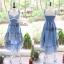Liz Lisa Mermaid Maxi Dress เดรสทรงหางปลาสียีนส์ ผูกโบว์ไหล่ thumbnail 8