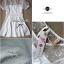 Lady Sweet Mini Dress เดรสตัดต่อลูกไม้ผ้าแก้วออแกนซ่า ลายดอกไม้ thumbnail 9