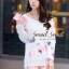 Seoul Secret ชุดเซ็ทเสื้อพิมพ์ลายสีพาสเทล กางเกงสีชมพู thumbnail 4