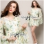 Lady Ribbon Floral Printed Flared Sleeve Chiffon Mini Dress thumbnail 3