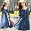 Lady Ribbon Flower Cut-Out Ripped Washed Denim Dress thumbnail 4