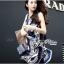 Lady Ribbon เสื้อคลุมเดรส ผ้าพิมพ์ลายสุดหรู สีน้ำเงิน thumbnail 1