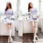 Lady Ribbon Baby Blue Graphic Dress thumbnail 7