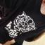 Animal Print Fashion เสื้อตัวยาวสีดำ ผ้า Cotton พิมพ์ลายเสือ thumbnail 5
