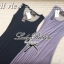 Lady Ribbon Maxi Dress เดรสยาวแขนกุด เปิดหลัง สีเทา สีดำ thumbnail 11