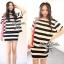 Stripe Jersey Mini Skirt Set เซ็ตเสื้อ กระโปรง ลายขวางขาวดำ thumbnail 1