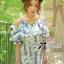 Lady Ribbon เดรสพิมพ์ลายดอกไม้คัทเอาท์ช่วงไหล่สุดเก๋ thumbnail 1