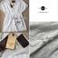 Lady Ribbon Lace V collar blouse เสื้อปักฉลุตัวยาวคอวี thumbnail 12