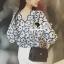 Seoul Secret Navy Daisy Perforate Blouse thumbnail 7