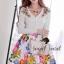 Seoul Secret เสื้อคาร์ดิแกน ผ้าไหมพรมประดับเพชรหลากสี thumbnail 2