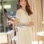Lady Ribbon Lace Maxi Dress แม็กซี่เดรสแขนสั้น ผ้าลูกไม้ จั๊มเอว thumbnail 4
